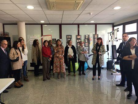 Visita al CAD de ADACE CLM en Guadalajara dentro del acto institucional celebrado en el IEN con motivo del Día del DCS