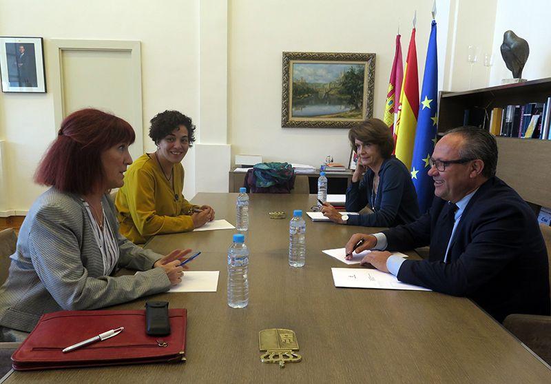 Reunión de la Dirección de ADACE CLM con el consejero de Hacienda del Gobierno de Castilla-La Mancha