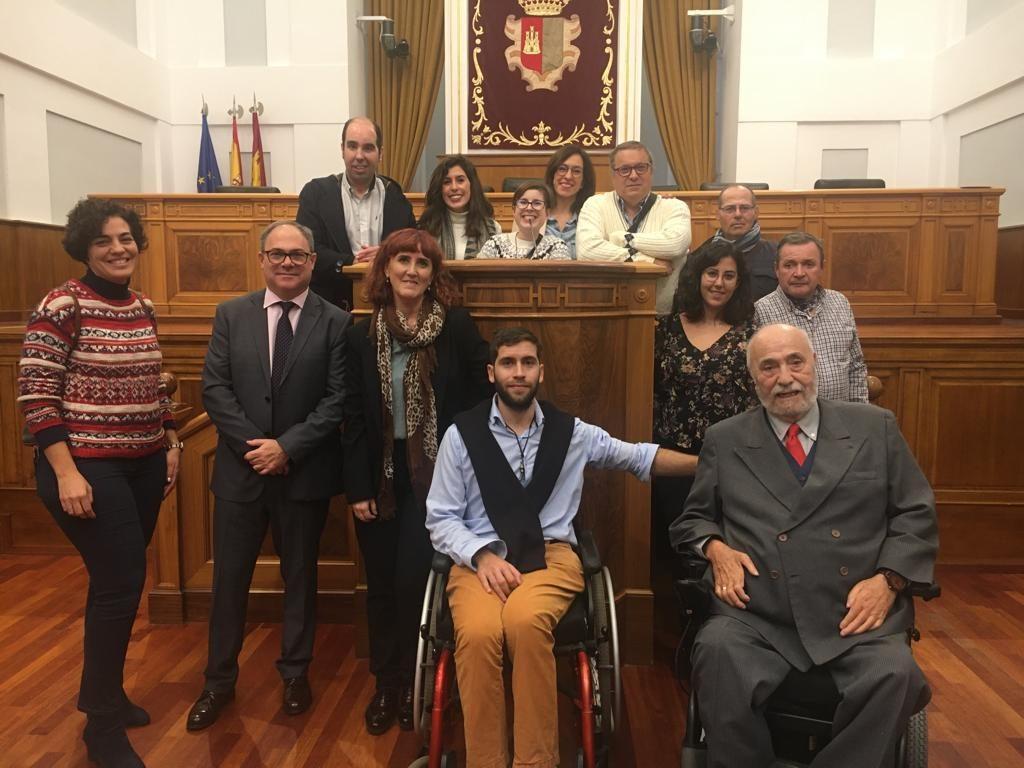 Pleno de las Cortes de Castilla-La Mancha con motivo del Día de la Discapacidad 2019, en el que participó ADACE CLM