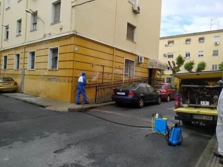 Proceso de desinfección de los recursos de ADACE CLM gracias al trabajo de las brigadas de limpieza de GEACAM