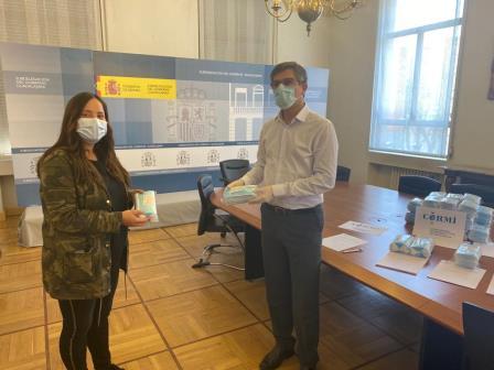 ADACE CLM ha recogido las mascarillas sanitarias entregadas por el Ministerio de Sanidad y cuyo reparto ha sido coordinado por el CERMI