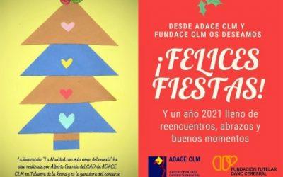 Desde ADACE CLM os deseamos Felices Fiestas y que 2021 sea un año cargado de buenos momentos, cercanía y abrazos
