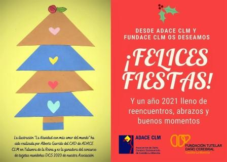ADACE CLM desea a la familia del Daño Cerebral unas Felices Fiestas y un maravilloso 2021